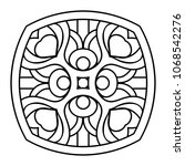 vector arabesque ornament | Shutterstock .eps vector #1068542276