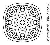 vector arabesque ornament | Shutterstock .eps vector #1068542282