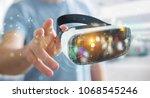 businessman on blurred... | Shutterstock . vector #1068545246