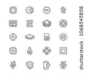 electronics related icons  thin ... | Shutterstock .eps vector #1068545858