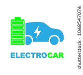 electric car in refill icon ... | Shutterstock .eps vector #1068547076