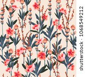 beautiful stylish garden... | Shutterstock .eps vector #1068549212
