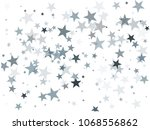 modern silver glitter falling... | Shutterstock .eps vector #1068556862