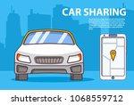 car sharing.concept of design...   Shutterstock .eps vector #1068559712