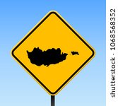 cyprus map road sign. square... | Shutterstock .eps vector #1068568352