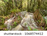floodwater pouring through the... | Shutterstock . vector #1068574412