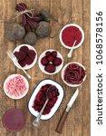 beetroot vegetable healthy food ... | Shutterstock . vector #1068578156