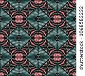 embroidery colorful pattern... | Shutterstock .eps vector #1068583232