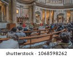pantheon  rome  italy march 28  ...   Shutterstock . vector #1068598262