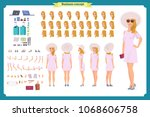 tourist female  vacation... | Shutterstock .eps vector #1068606758