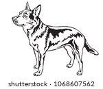 decorative portrait of standing ... | Shutterstock .eps vector #1068607562