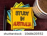 writing note showing  study in...   Shutterstock . vector #1068620552