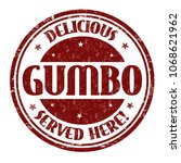 delicious gumbo sign or stamp... | Shutterstock .eps vector #1068621962