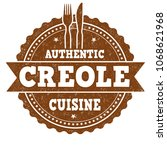 authentic creole cuisine grunge ... | Shutterstock .eps vector #1068621968