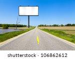 billboard on country road | Shutterstock . vector #106862612
