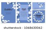 vector illustration blue... | Shutterstock .eps vector #1068630062