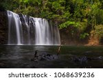 tad tayicseua waterfall on the... | Shutterstock . vector #1068639236