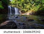 tad tayicseua waterfall on the... | Shutterstock . vector #1068639242