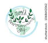 world environment day lettering   Shutterstock .eps vector #1068642062
