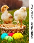 small chickens with colorful... | Shutterstock . vector #106864562