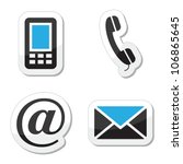 contact web and internet icons... | Shutterstock .eps vector #106865645