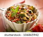 quinoa salad with vegetables ... | Shutterstock . vector #106865942