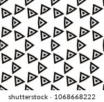 seamless pattern with symmetric ... | Shutterstock .eps vector #1068668222