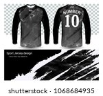 long sleeve soccer jerseys t...   Shutterstock .eps vector #1068684935