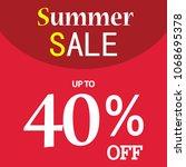 vector badge icon sale market... | Shutterstock .eps vector #1068695378