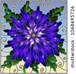 stained glass window style... | Shutterstock .eps vector #1068695726