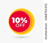 red discount offer price label. ... | Shutterstock .eps vector #1068701552