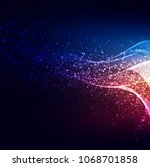 abstract colorful shiny gliters ...   Shutterstock .eps vector #1068701858