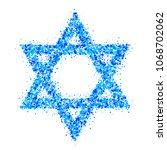 vector symbol of star of david. ...   Shutterstock .eps vector #1068702062