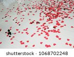 the floor in the room strewn... | Shutterstock . vector #1068702248