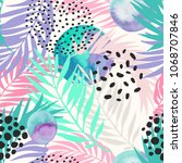 abstract summer seamless... | Shutterstock .eps vector #1068707846