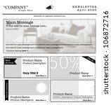 newsletter template. internet...