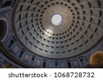 pantheon's coffered dome in...   Shutterstock . vector #1068728732