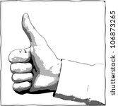 a hand with a thumb up gesture  ... | Shutterstock . vector #106873265