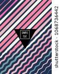funky minimal cover design.... | Shutterstock .eps vector #1068736442
