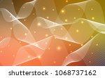 light red  yellow vector... | Shutterstock .eps vector #1068737162