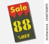 badge seal icon vector sign... | Shutterstock .eps vector #1068760895