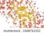 light orange vector background...   Shutterstock .eps vector #1068761522