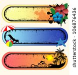 set of tropical grunge banners...   Shutterstock .eps vector #106876436