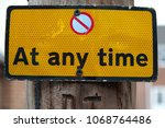 no parking at any time sign... | Shutterstock . vector #1068764486