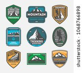 trekking expedition vintage... | Shutterstock . vector #1068766898