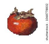 persimmon in the pixel art  8... | Shutterstock .eps vector #1068778832