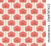 vintage seamless pattern with... | Shutterstock .eps vector #1068787412