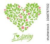 handwritten inscription i love... | Shutterstock .eps vector #1068787532