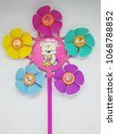 Small photo of Colorful toy fan