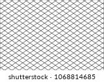 mesh net lines pattern cross... | Shutterstock .eps vector #1068814685